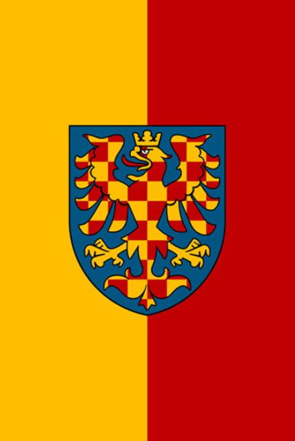 Svislé vyvěšení moravské vlajky